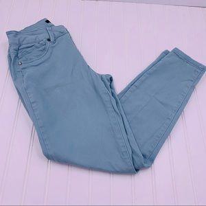 1822 Denim Jeans Light Aqua Blue  Ankle Skinny 8